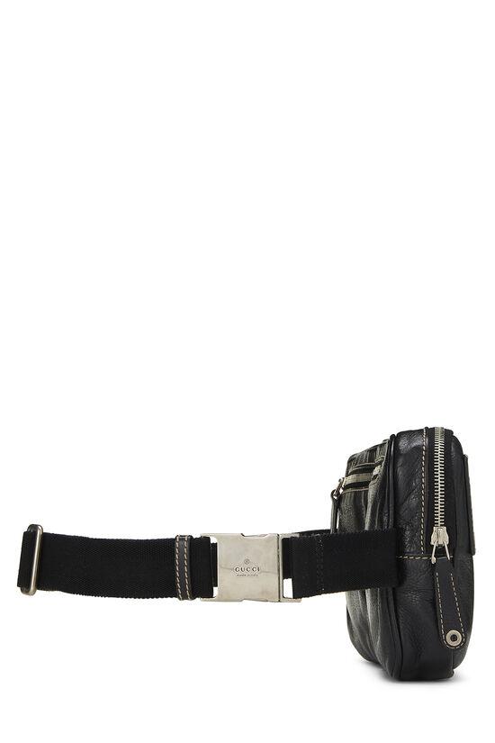 Black Leather Belt Bag, , large image number 2