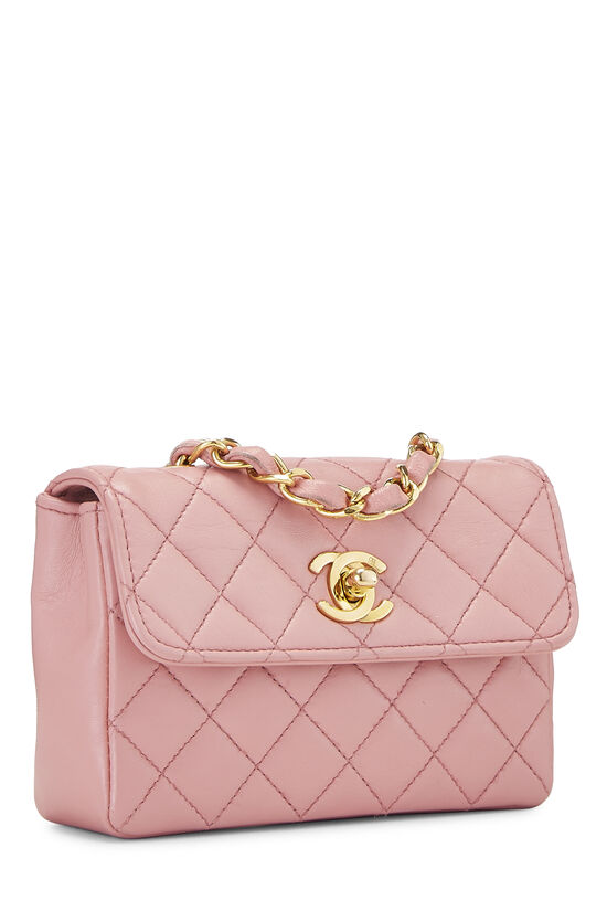 Pink Quilted Lambskin Half Flap Micro, , large image number 1