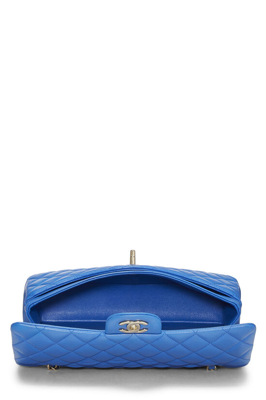 Blue Quilted Lambskin Classic Double Flap Medium, , large image number 5