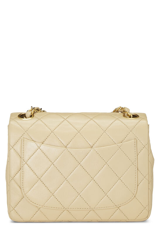Beige Quilted Lambskin Half Flap Mini, , large image number 3