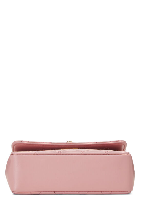 Pink Quilted Lambskin Half Flap Micro, , large image number 4