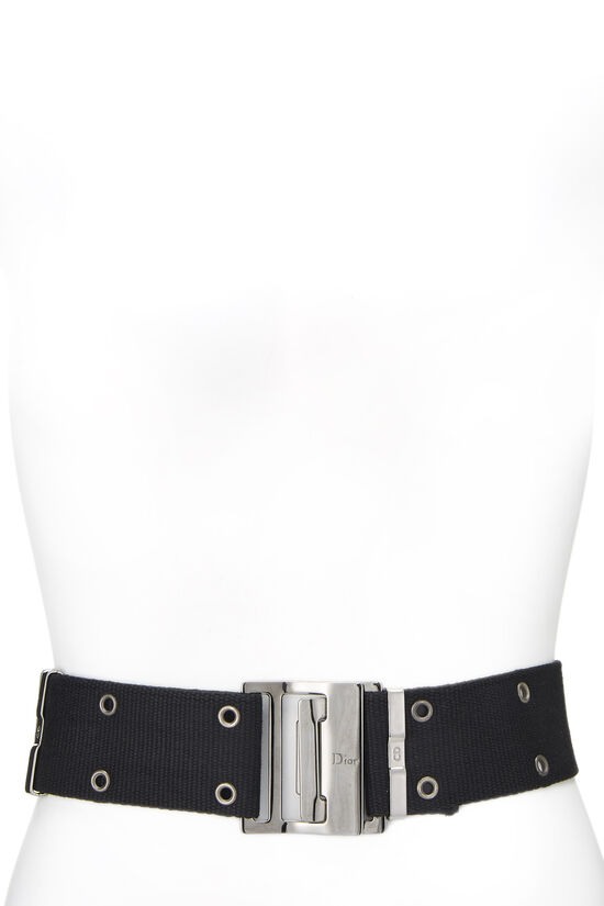 Black Oblique Canvas Belt Bag, , large image number 0