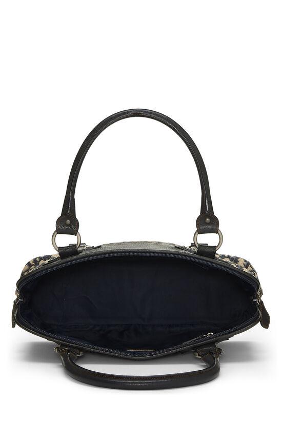 Navy Trotter Canvas Handbag, , large image number 5