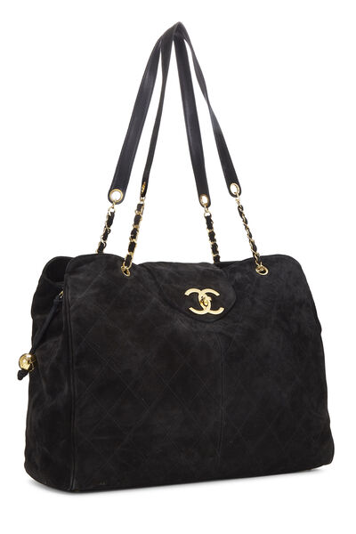 Black Quilted Suede Supermodel, , large