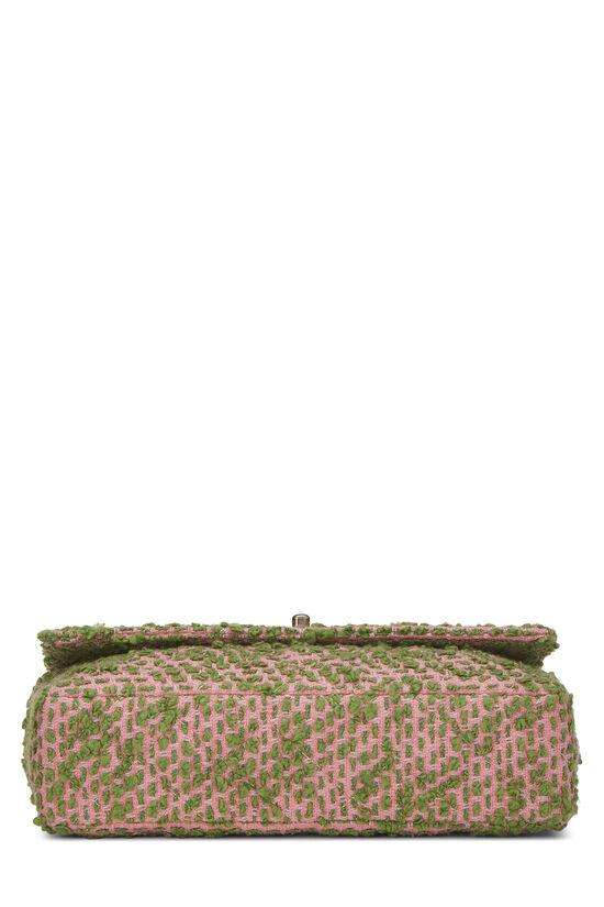 Pink & Green Tweed Classic Flap Medium, , large image number 4