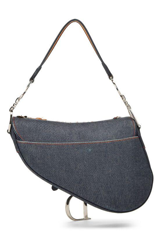 Blue Denim Embellished Saddle Bag, , large image number 3