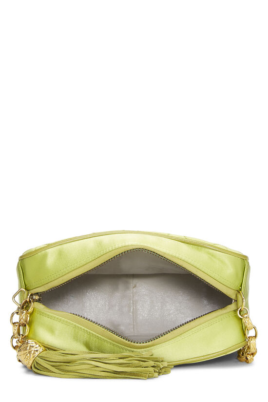 Green Quilted Satin Pocket Camera Bag Mini, , large image number 6