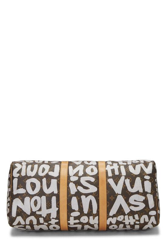 Stephen Sprouse x Louis Vuitton Grey Monogram Graffiti Keepall 50, , large image number 4