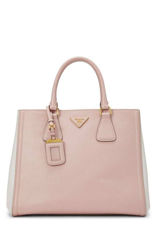 Pink & Ivory Saffiano Bicolor East West Tote, , large image number 0