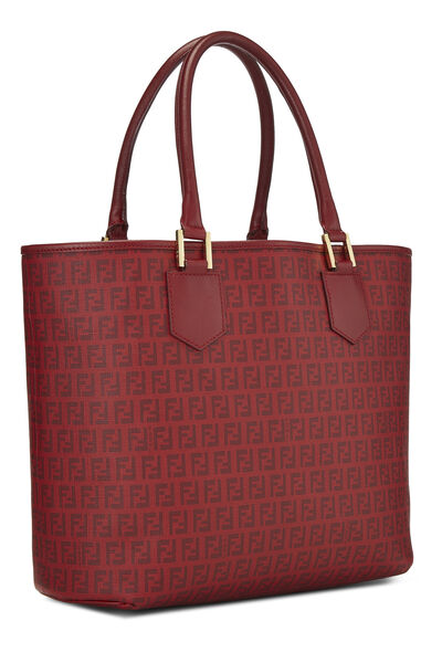 Red Zucchino Coated Canvas Tote, , large
