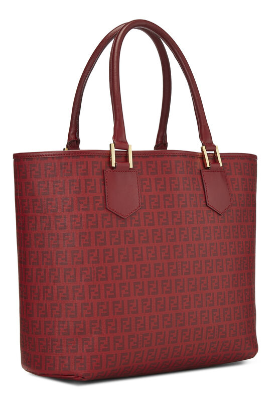 Red Zucchino Coated Canvas Tote, , large image number 1