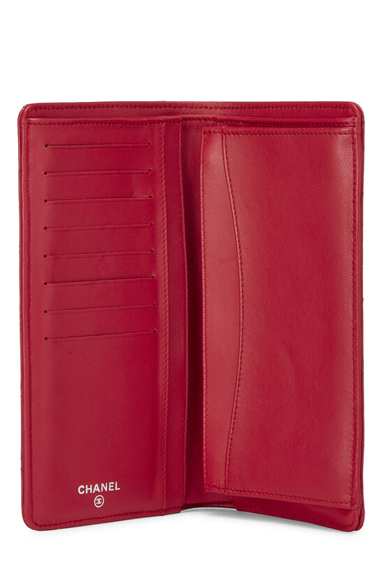 Pink Quilted Lambskin Long Wallet, , large image number 3