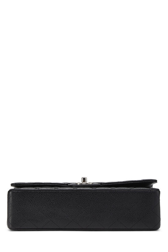 Black Quilted Caviar Classic Double Flap Medium, , large image number 4