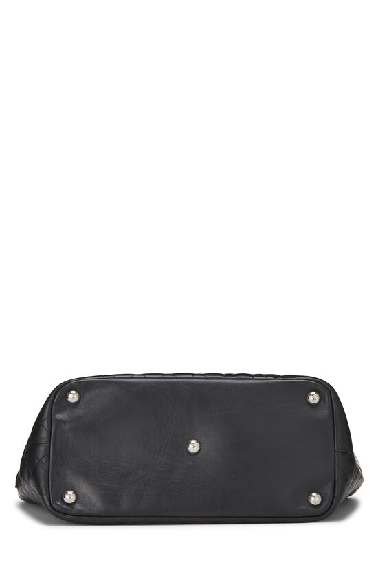 Black Quilted Calfskin Cambon Tote Large, , large image number 4