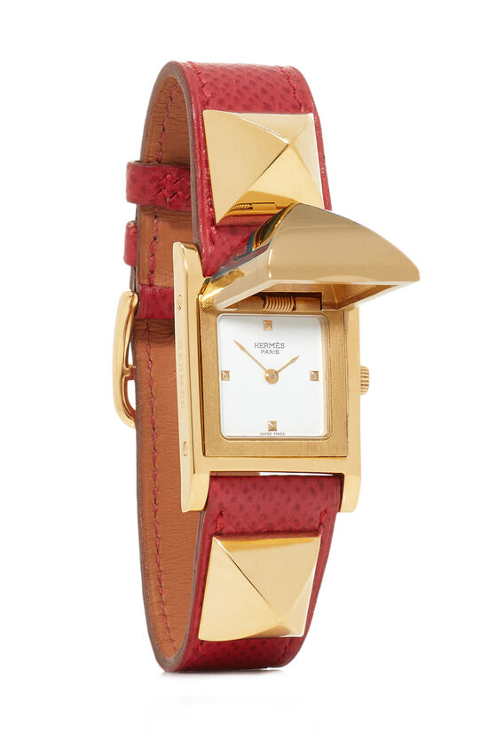 Red Courchevel & Gold Medor Watch, , large image number 1