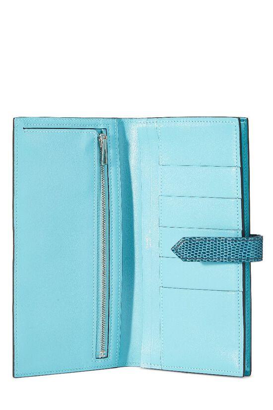 Aqua Lizard & Leather Bearn Wallet, , large image number 3