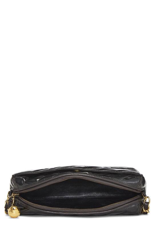 Black Patent Leather Diagonal Camera Bag Large, , large image number 6
