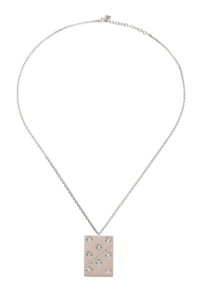 Pink Acrylic Crystal Heart Necklace