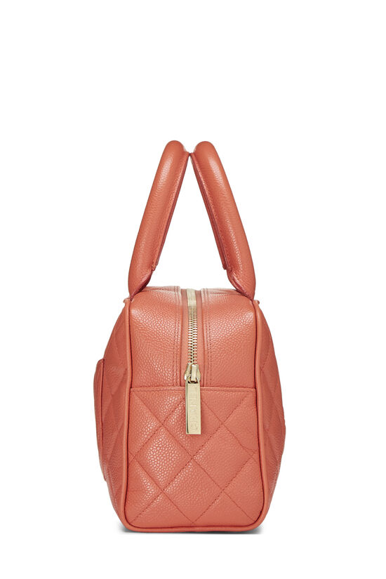 Coral Quilted Caviar Bowler Mini, , large image number 2