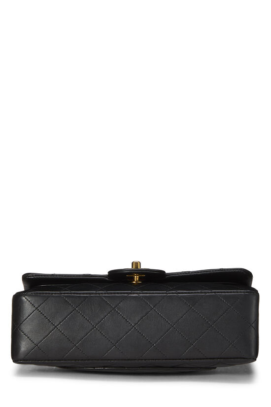 Black Quilted Lambskin Classic Double Flap Small, , large image number 4