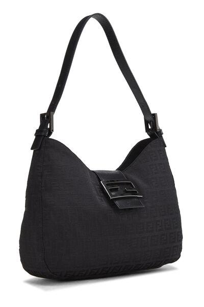 Black Zucchino Canvas Shoulder Bag, , large