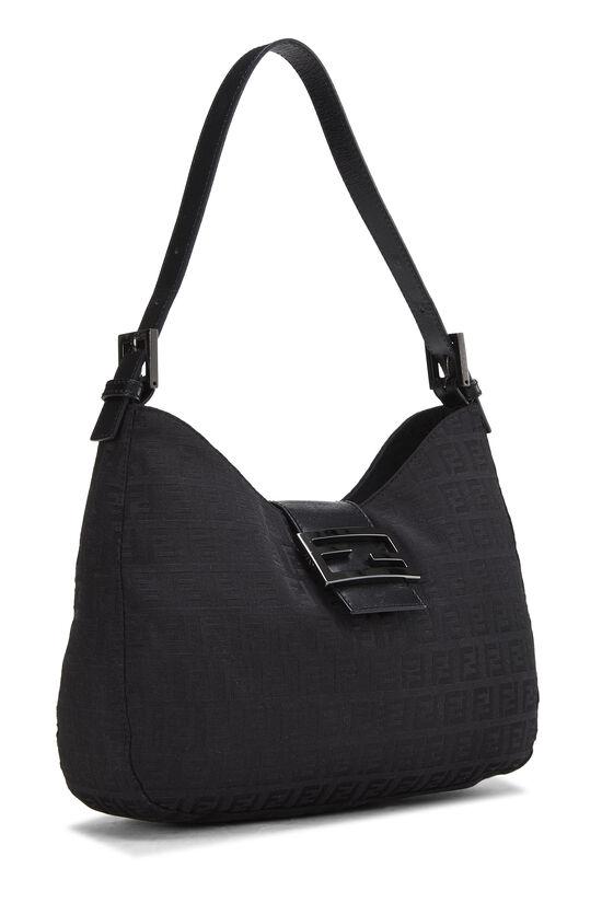 Black Zucchino Canvas Shoulder Bag, , large image number 1