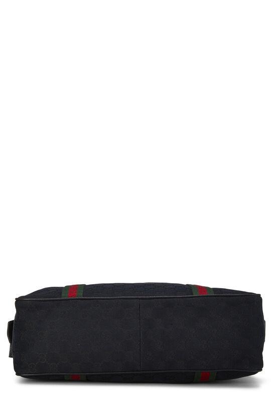 Black GG Canvas Web Briefcase, , large image number 4