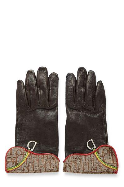 Brown Lambskin Rasta Gloves