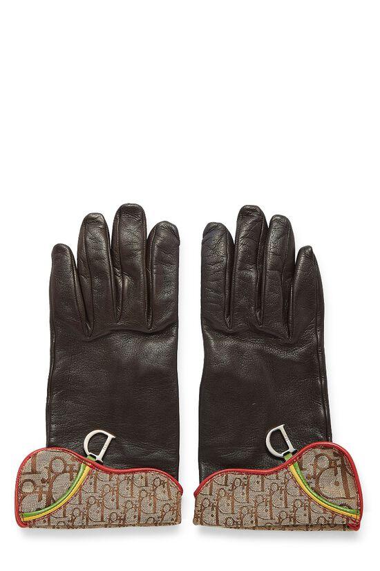 Brown Lambskin Rasta Gloves, , large image number 0