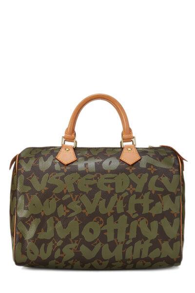 Stephen Sprouse x Louis Vuitton Monogram Green Graffiti Speedy 30