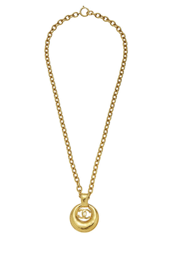 Gold 'CC' Long Chain Necklace, , large image number 0