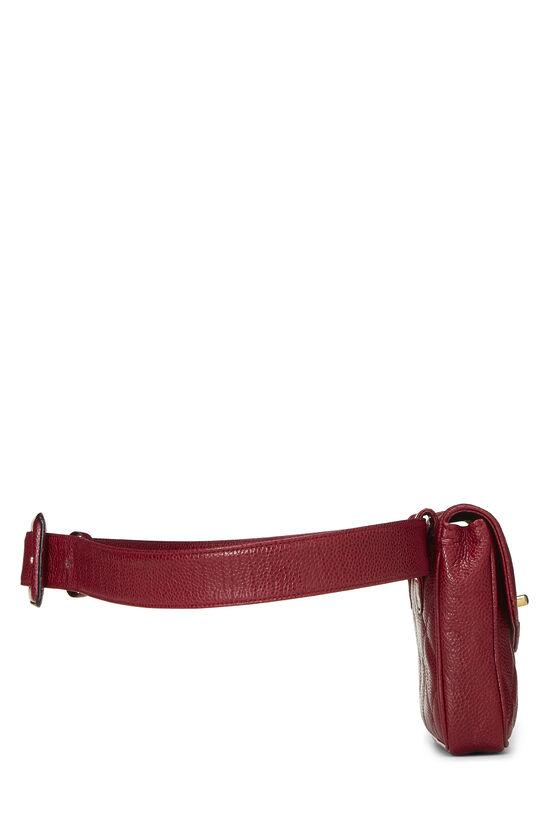 Red Quilted Caviar Envelope Belt Bag, , large image number 2