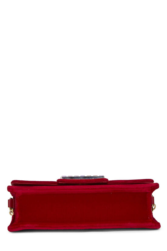 Red Velour Broadway Crossbody Mini, , large image number 4