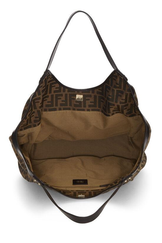 Brown Zucca Canvas Handbag Large, , large image number 5