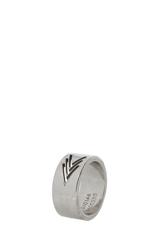 Silver 'Volez Voguez Voyagez' Ring Medium, , large image number 0