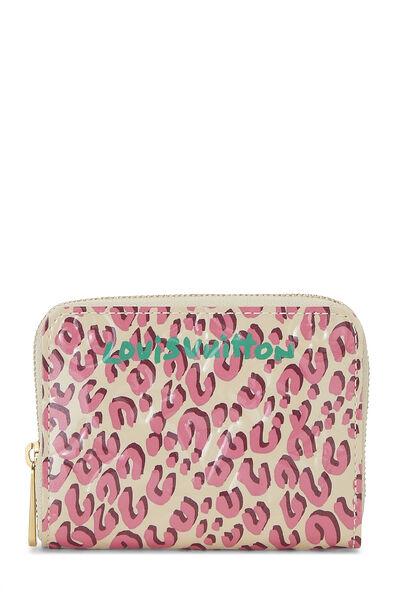 Stephen Sprouse x Louis Vuitton Corail Vernis Leopard Zippy Coin Purse