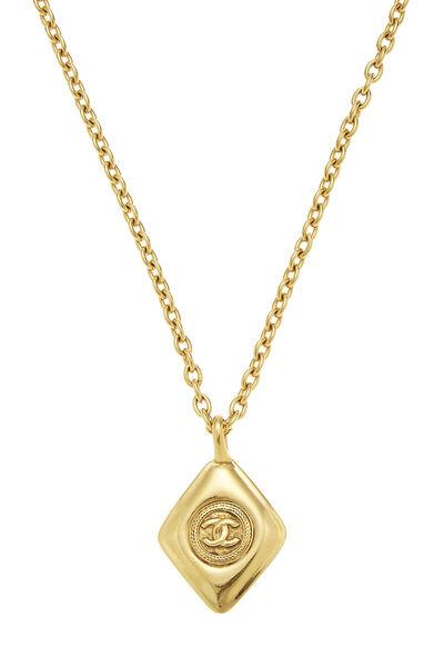 Gold 'CC' Necklace, , large