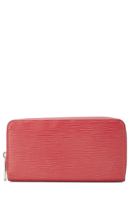 Coquelicot Epi Zippy Continental Wallet, , large image number 0
