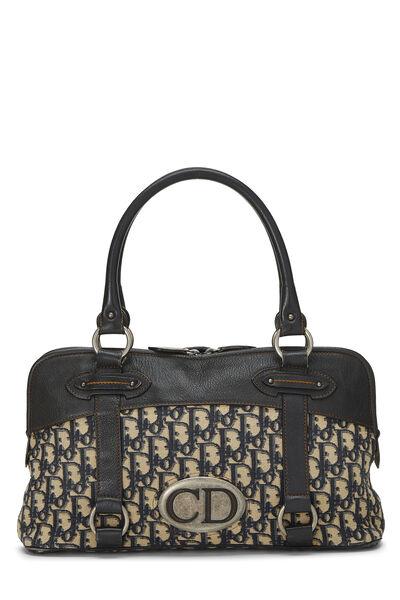 Navy Trotter Canvas Handbag