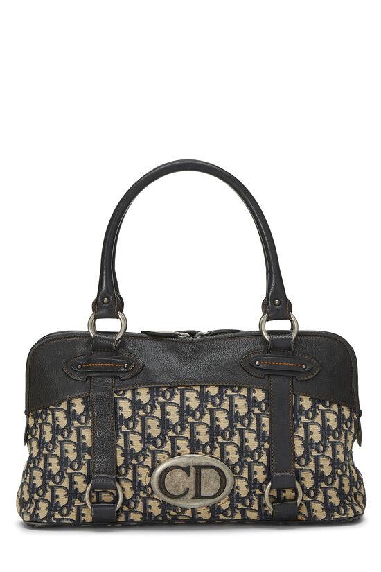 Navy Trotter Canvas Handbag, , large image number 0