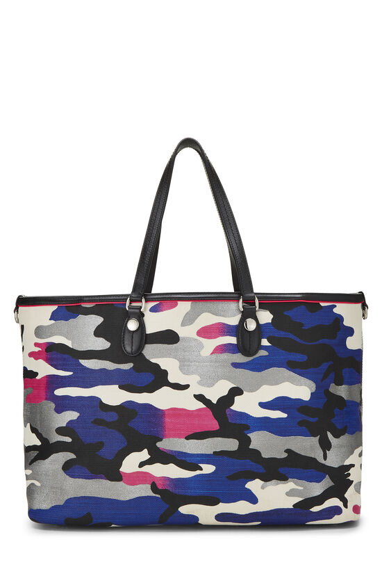 Anselm Reyle x Christian Dior Multicolor Camouflage Coated Canvas Tote, , large image number 3