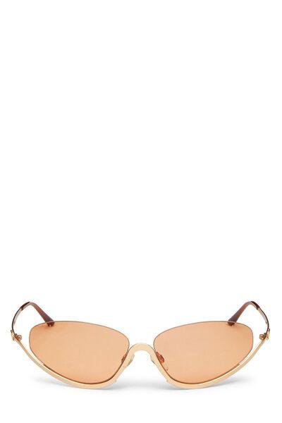Gold Metal Half Rim Sunglasses