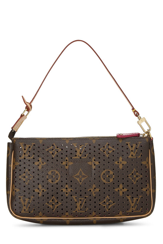Limited Edition Pink Monogram Perforated Pochette Accessoires, , large image number 3