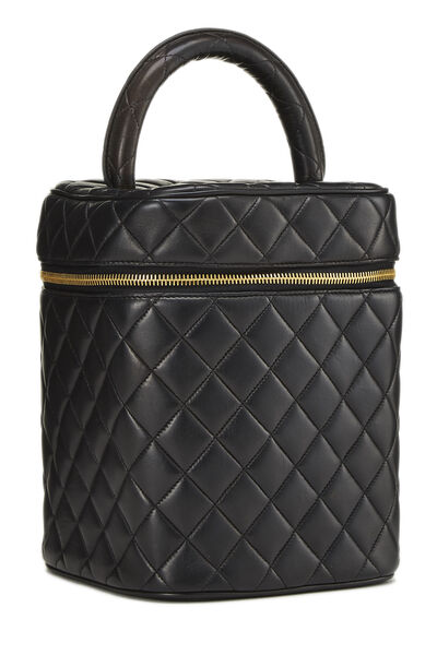 Black Quilted Lambskin Vanity Tall, , large