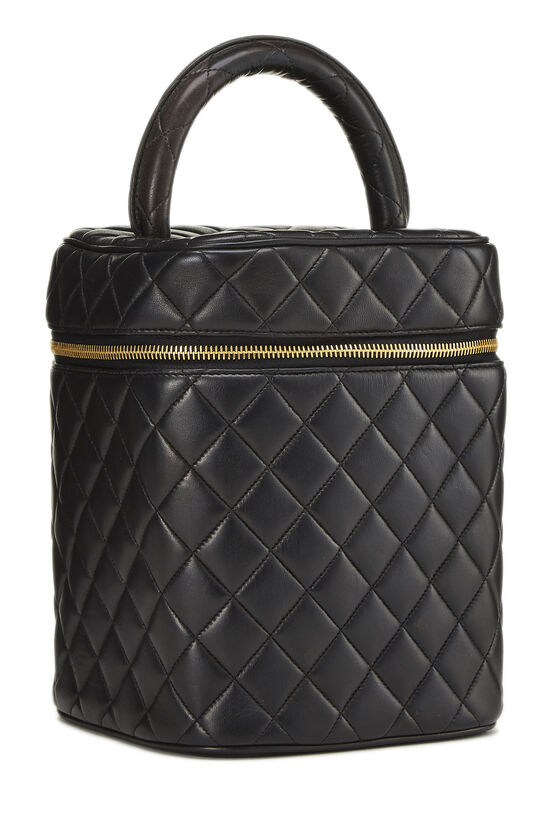 Black Quilted Lambskin Vanity Tall, , large image number 1
