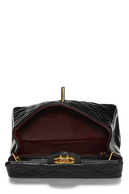 Black Quilted Lambskin Half Flap Mini, , large image number 6
