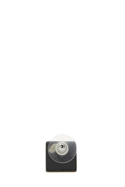 Black Acrylic Square Earrings, , large