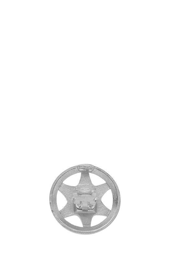 Silver Star Badge Earrings, , large image number 2