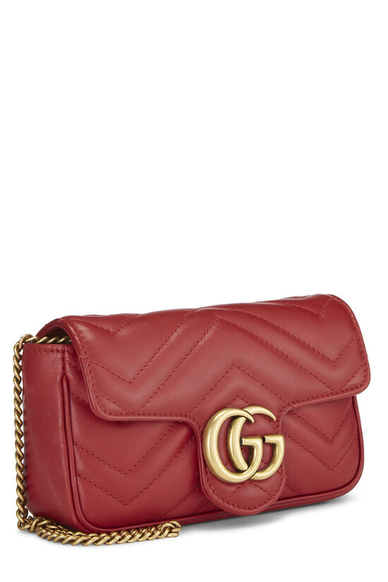 Red Leather Marmont Crossbody Extra Mini, , large image number 2