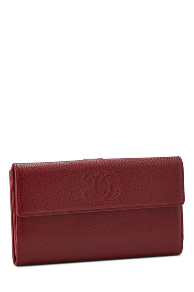 Red Caviar 'CC' Organizer Wallet, , large